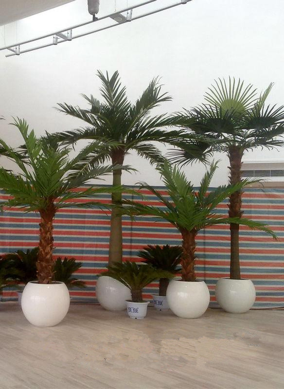 Indoor Potted Palm Trees Ornamental Artificial Mini Palm