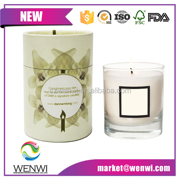 luxury wholesale custom round cardboard paper candle packaging boxes