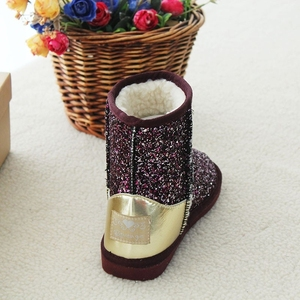 Latest model glittering women non slip shoes