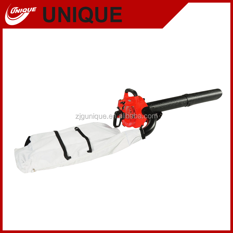 gasoline power 25.4cc leaf blower with a big collect bag