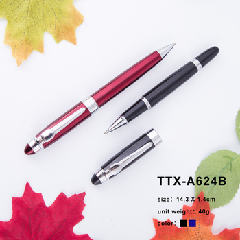 Promotion Customized High Quality Metal Ball Pen With Black Gift Box