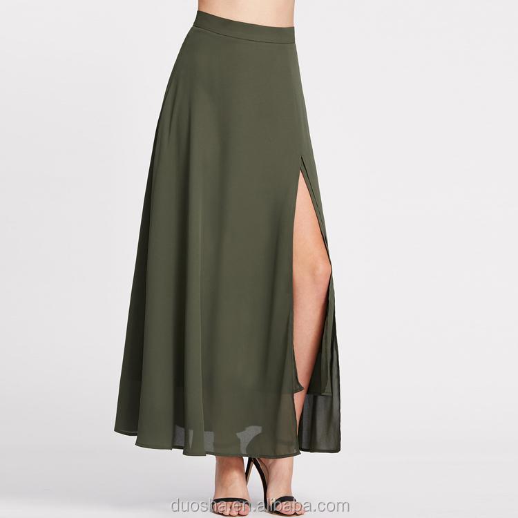 Mujeres Diseños Falda Gasa De Faldas Para Largas Niñas Mejores Las EzqOdTT 200d4867f74d