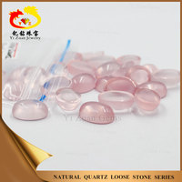 100% Natural Oval shaped rose quartz for rose stone jewelry decoraiton