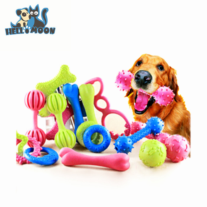 Wholesale Eco-friendly Custom 10 Piece Best Natural Cute Funny Soft Rubber Squeaky Treat Balls Pet Dog Toy With Provide Free Sam