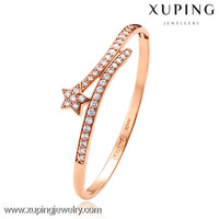 50988 xuping jewelry rose gold color bangle, star design women gender bangle