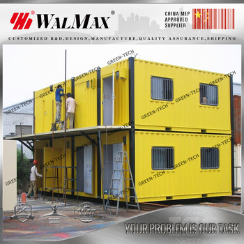CH-DS002 20ft living container house with wheels 20ft living container  house with wheels