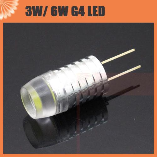 g4 3w 6w led corn bulb spot light dc 12v non polar lens high power for chandelier crystallights. Black Bedroom Furniture Sets. Home Design Ideas