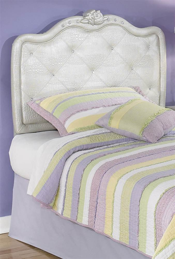 Get Quotations · Ashley Furniture Signature Design   Zarollina Upholstered  Headboard   Twin Sized   Faux Crystal Buttons