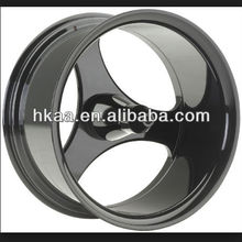 motorcycle three spoke custom wheels, polished or black powder coated finish motorcycle wheel