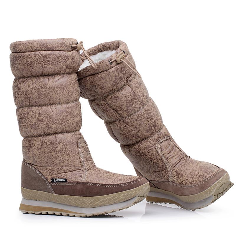 2016 diseño de moda mantener caliente cuña señora invierno sonw botas Mujer cea76a3c7816a