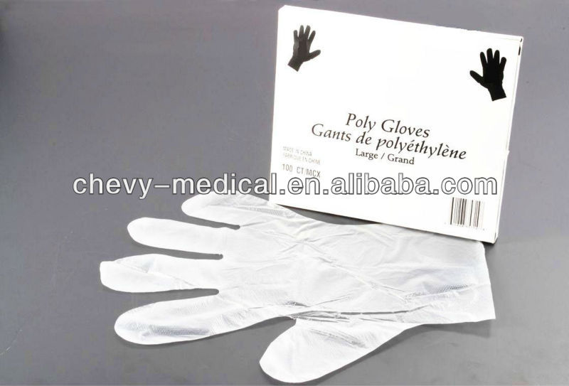 Clear and White, LDPE / HDPE / CPE Polyethylene Disposable Safety Examination Gloves (PE )Disposable Gloves(CE ISO FDA)