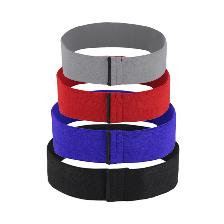 pure color large non-slip fit girl resistance circle exercise hip bands