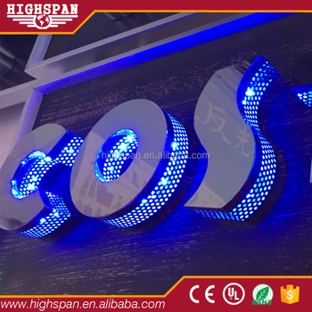 Highspan Custom Decorative Led Channel Letters Lighting Box Advertising Halo Sign