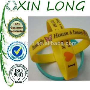 2013 newest heart silicone bangles for lovers