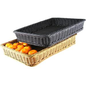 Best seller supermarket use PP fruit and vegetable display basket with metal frame