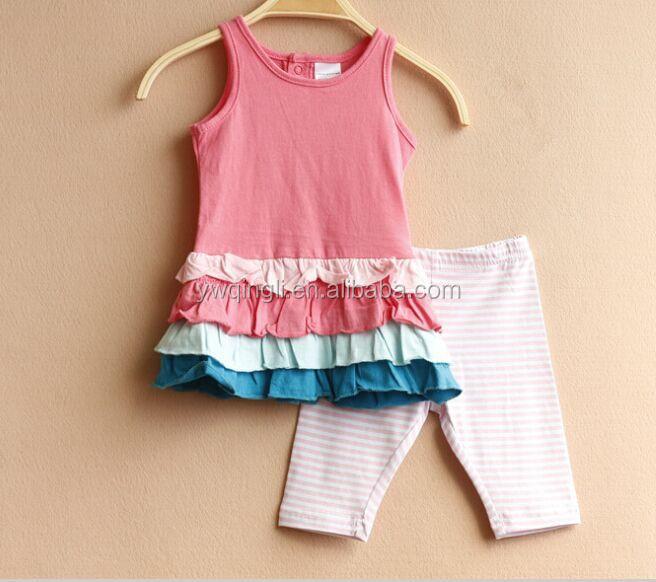 boutique de moda del juego del beb nias diseo de moda top con volantes faldas