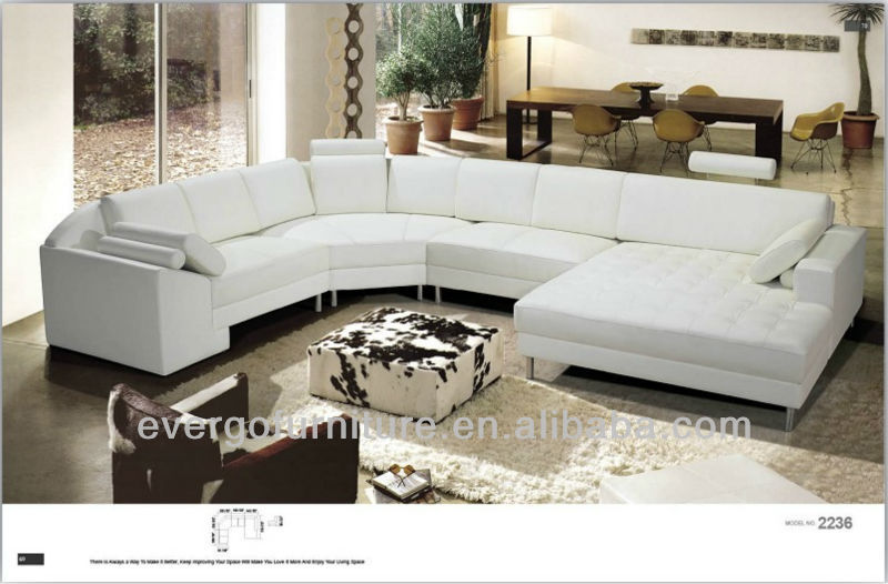 Round leather sofa round corner sofa leather sectional in for Sectional sofa with round chaise