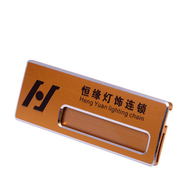 high quality custom acrylic name badge with pin