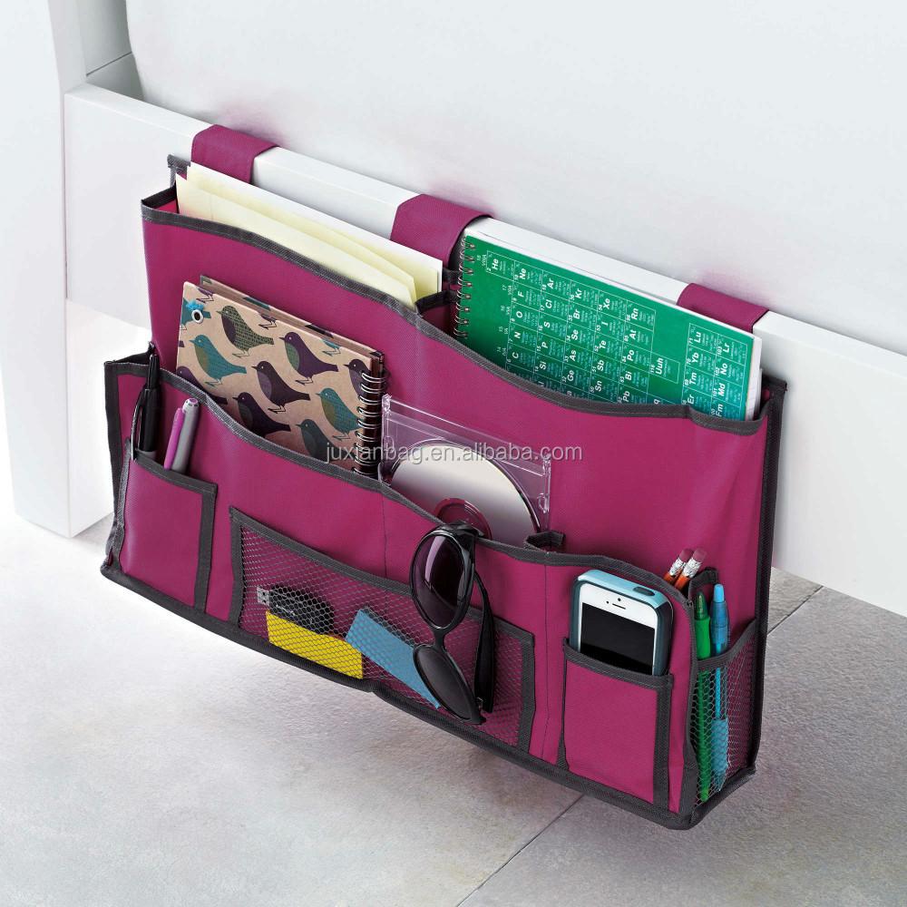 Bedside Caddy Hanging Pocket Organizer Storage Bag In Pink