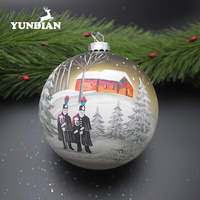 Factory wholesale glass ornaments big christmas tree baubles hanging balls decorations