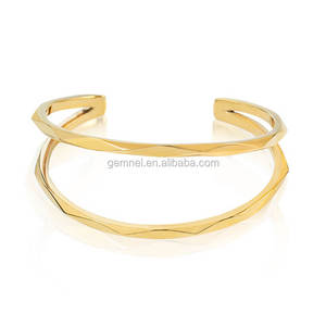 Gemnel latest popular Simple design fashion thin bangles gold