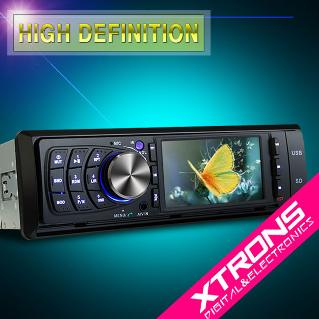"Xtrons 3"" HD TFT 1 Din DVD player Touch screen"