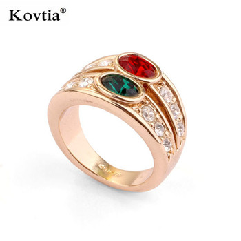 Popular Double Stone Ring One Garm Gold Jewelry South Indian Jewelry