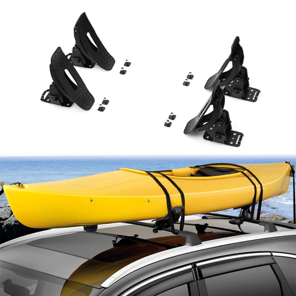 Chebay Kayak Carrier Roof Rack Canoe Boat Surf Ski Board Roof Top Mounted on Crossbar With Straps Fits For Tucson 2016 2017 2018