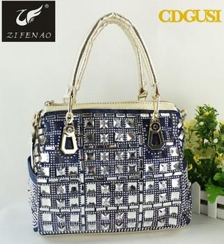 best selling Jeans style designer denim handbag rhinestone western handbags 046a97dd80637
