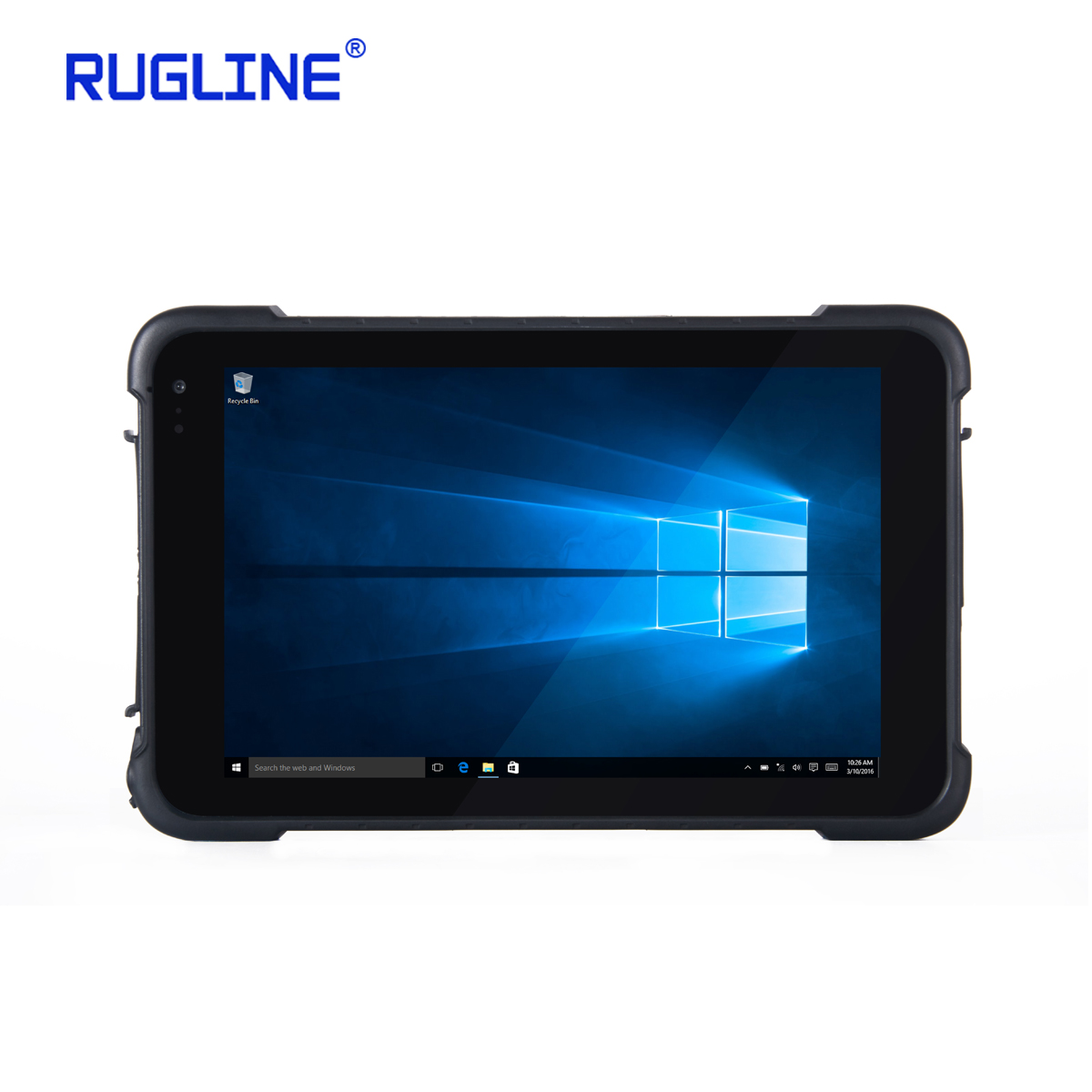 Rugline RT86 Windows 10 Home Outdoor Waterproof IP67 Industrial Barcode Scanner Rugged Tablet with 3G WIFI BT4.0 GPS 32GB