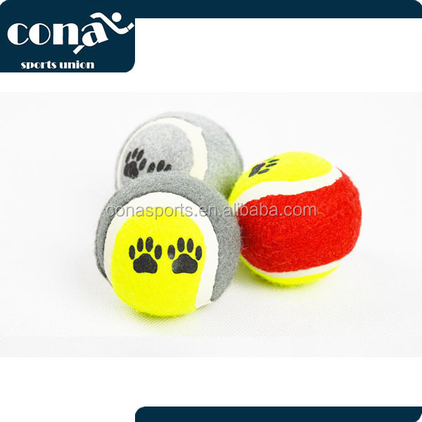Promotional Custom printed pet dog tennis ball for Dogs & Cats with Low Price Free Shipping