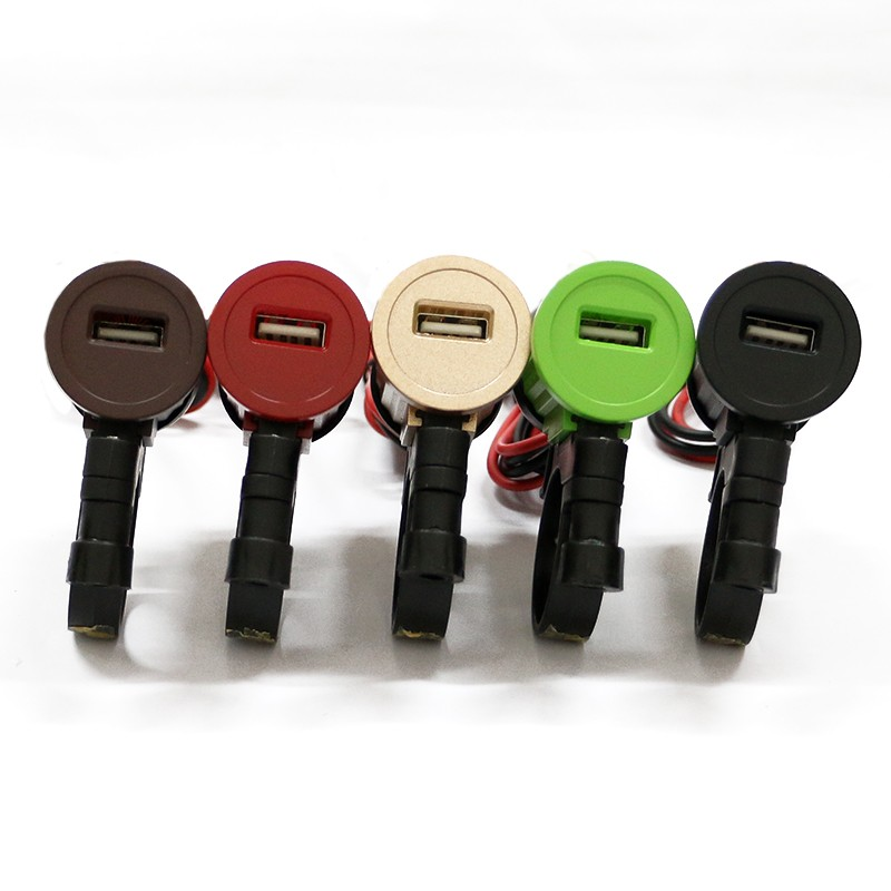 wholesales color usb port waterproof 12V motorcycle usb charger 2.1A for mobile phone