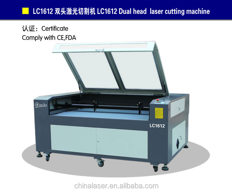 High quality co2 laser cutter and engraver machine for cutting paper,acrylic,leather