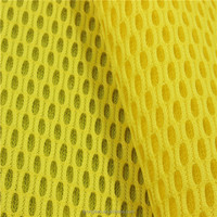 yellow polyester breathable 3d air mesh fabric for seat covers