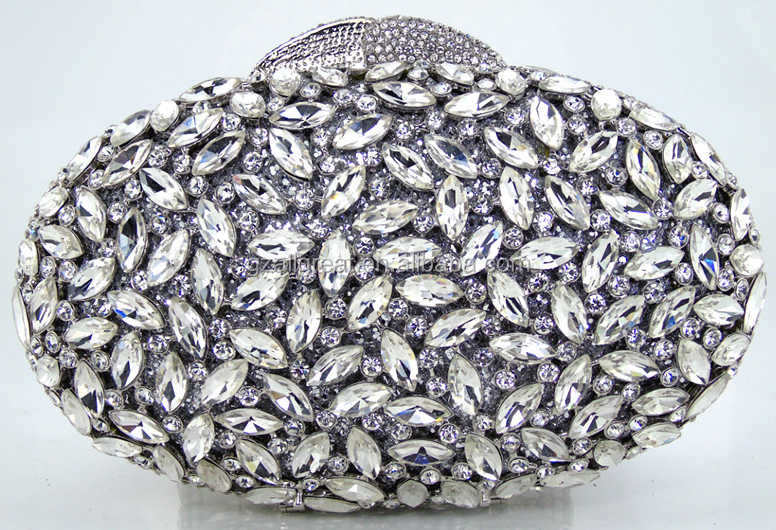 AB7000#160 High quality guangzhou factory fashion evening clutch bags beaded evening bag