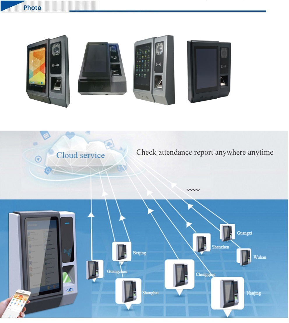 HF-A5 Large User Capacity Cloud Attendance SDK Standalone Fast Delivery Time Attendance Terminal