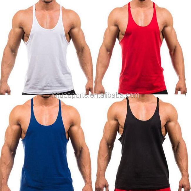 2018 Groothandel Fitness Mode Mens Bodybuilding Gym Vest Stringer Singlet Tank Top