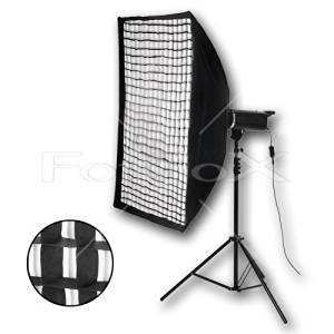 """Fotodiox Pro 32x48"""" Softbox for Studio Strobe/Flash with Soft Diffuser and Dedicated Speedring and Eggcrate (2x2x1.5"""" Grid), for Norman Series 900, LH2000, LH2400, IL2500 Illuminator Strobe Flash Light"""