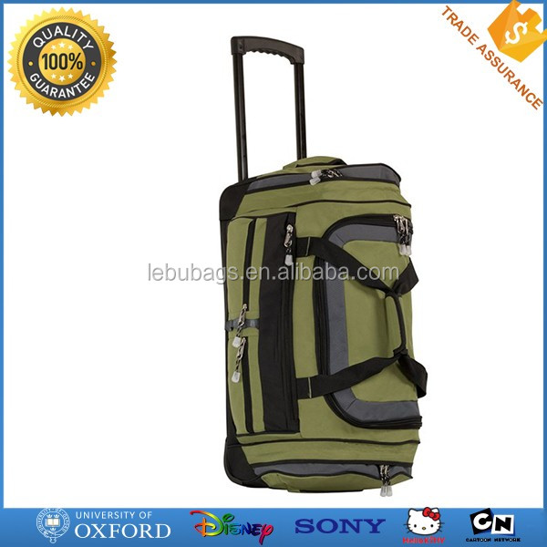 New design durable nylon wheeled travel bag trolley duffle bag
