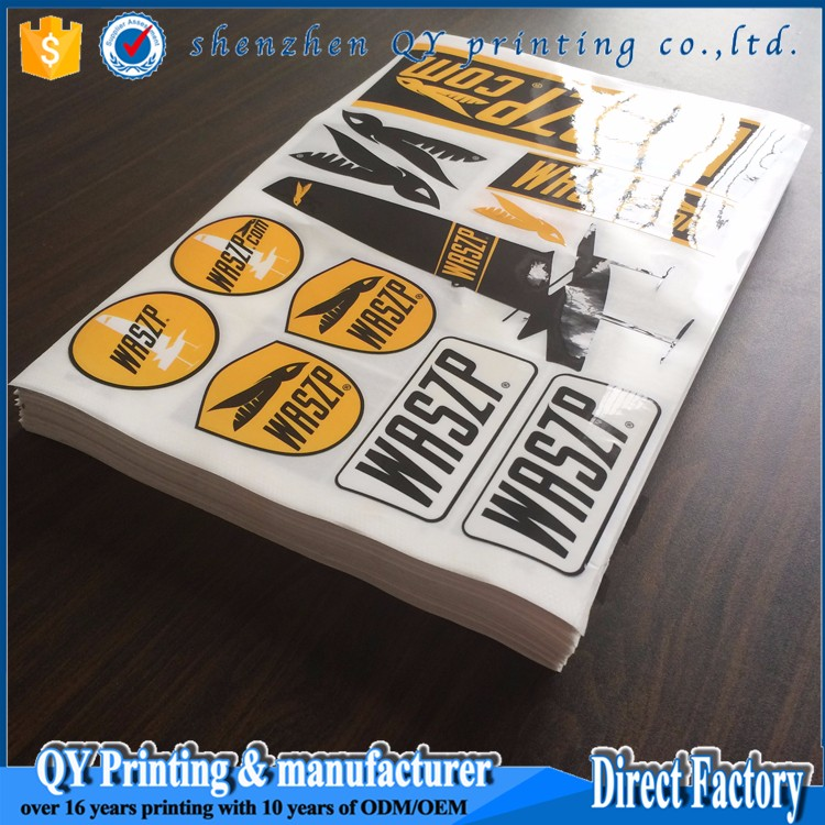 Full Color Printing Waterproof A Size Vinyl StickersCustom Die - Custom die cut vinyl stickers how to apply