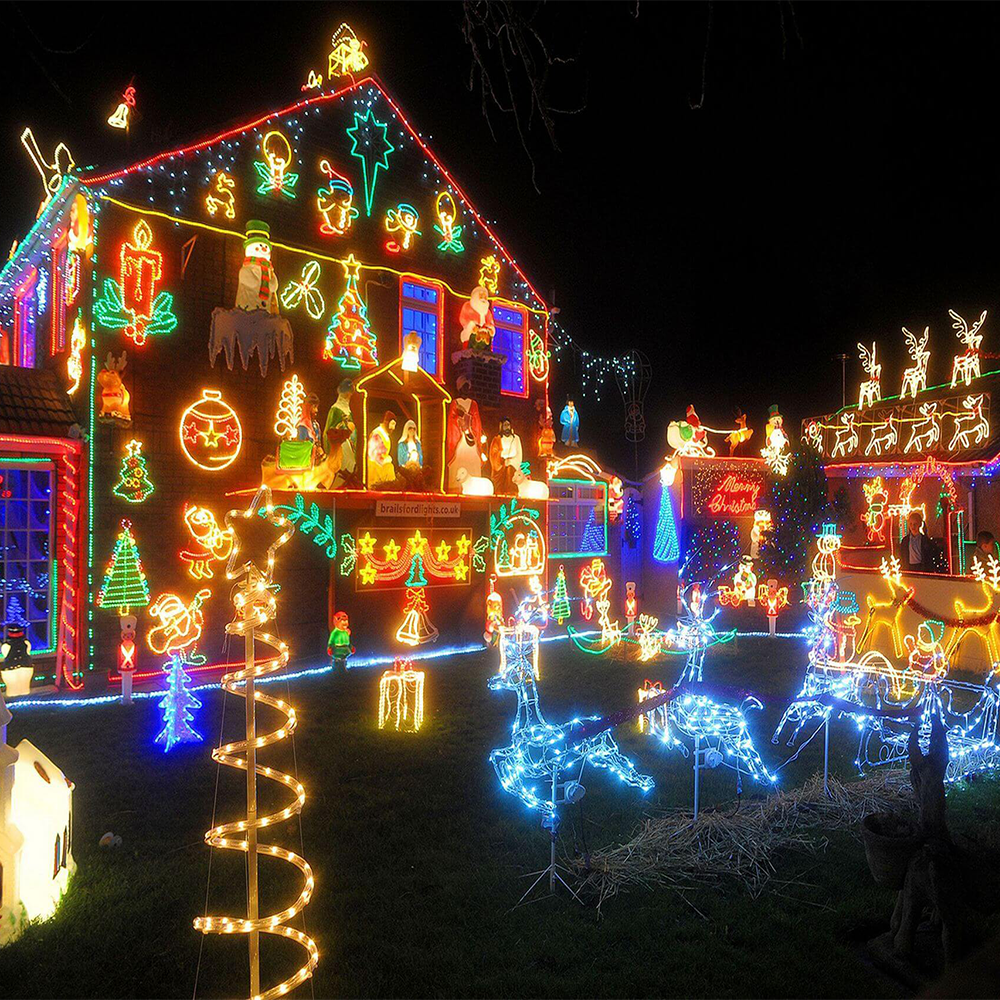 Christmas Lawn Decorations.2d 3d Rope Light Sculptures Outdoor Christmas Lights For Yard Lawn Decorations Buy Christmas Yard Decoration Outdoor Christmas Lawn