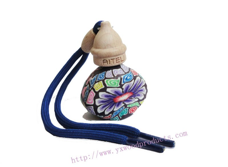 Polymer clay hanging car perfume