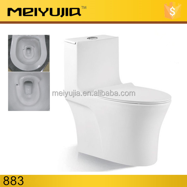 883C New design siphonic toilet 4D flushing one piece toilet Asia & India style
