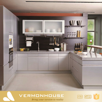 2017 Vermonhouse Modern Design White Lacquer Gl Door Kitchen Wall Hanging Cabinet