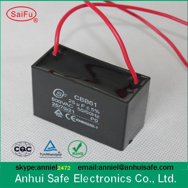 Low Voltage Capacitor 250vac 350vac 450vac 550vac Fan Capacitor ...