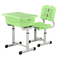 Primary school metal wooden desk plastic chair height adjustable classroom ergonomic student desk and chair