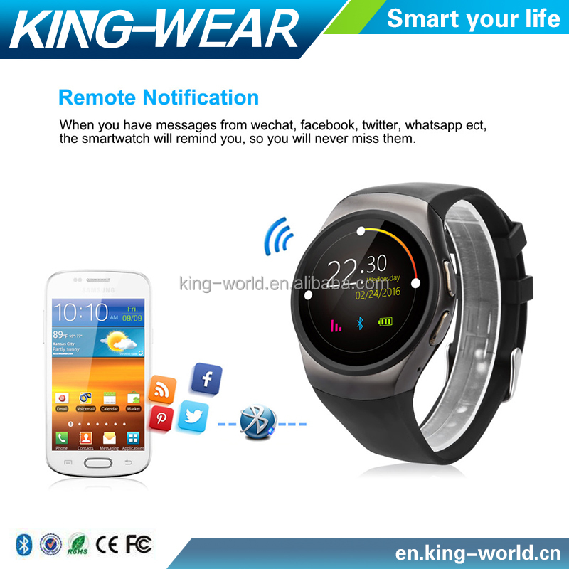 Kingwear KW18 Bluetooth Smart Watch 1.3'' IPS LCD Phone Support Anti-lost / Heart Rate Monitor / Pedometer / Sleep monitor/GSM