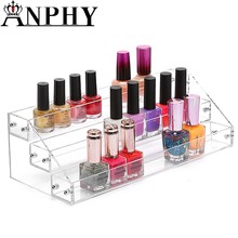 ANPHY C70 3 Layers Acrylic Nail Polish Holder, Layers Clear Acrylic Nail Polish Shelf