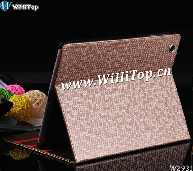 For iPad2/3 Sleeping Leather Case.