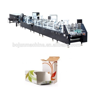 MJZXJ-1 automatic corrugated paperboard folder gluer machine/cardboard folding gluing machine/carton box